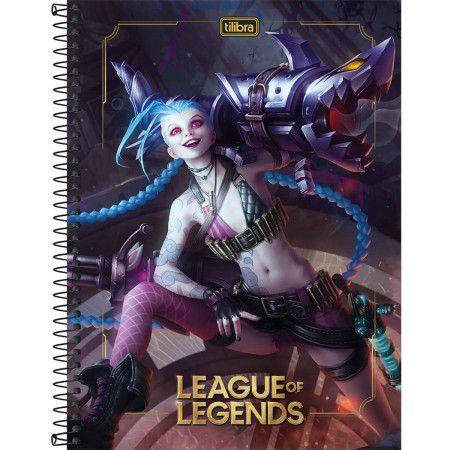Caderno C/D 12 Materias League Of Legends Tilibra