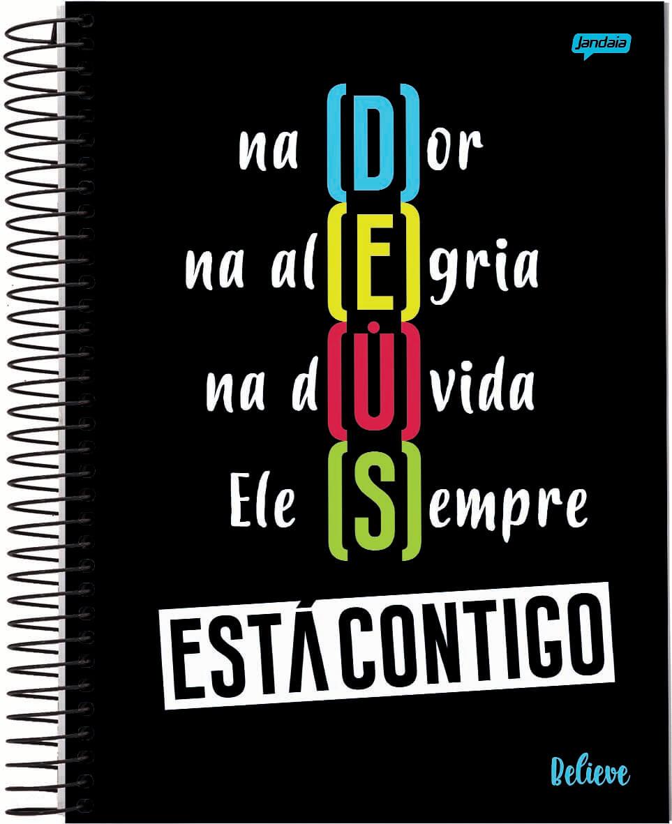 Caderno C/D 15 Materias Believe Jandaia