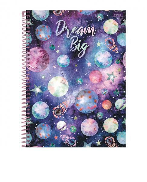 Caderno C/D 15 Materias Galaxy Foroni