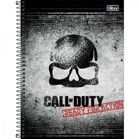 Caderno C/D 16 Materias 256 Folhas Call Of Duty Tilibra