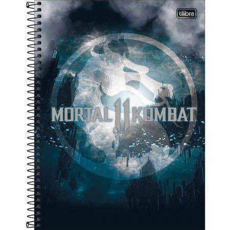 Caderno C/D 16 Materias 256 Folhas Mortal Kombat Tilibra