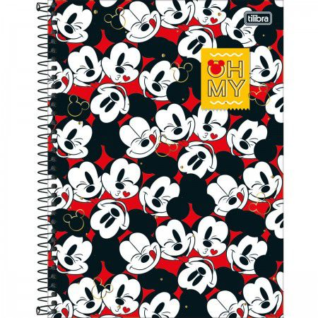 Caderno C/D 16 Materias Mickey 256 Folhas Tilibra