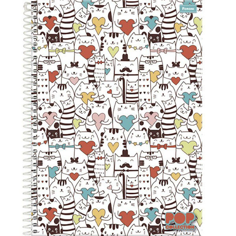 Caderno C/D 1/4 96 Folhas Pop Collect Foroni