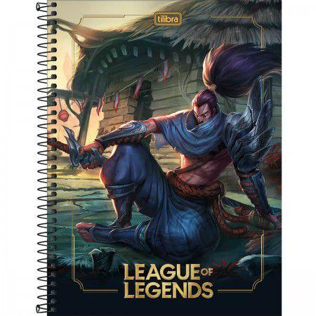 Caderno C/D 20 Materias 320 Folhas League Of Legends Tilibra