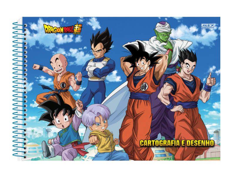 Caderno Cartografia C/D 60 Folhas Dragon Ball Sao Domingos