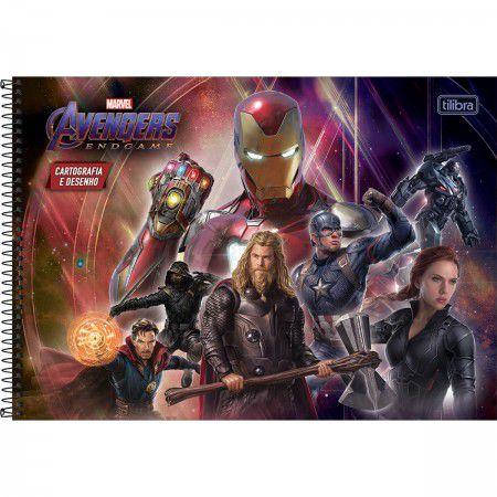 Caderno Cartografia C/D 80 Folhas Avengers Endgame Tilibra