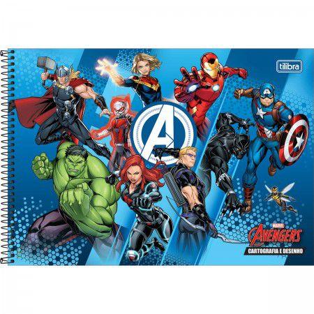 Caderno Cartografia C/D 80 Folhas Avengers Tilibra