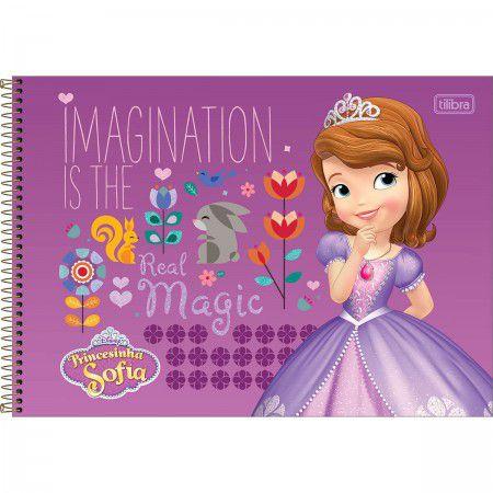 Caderno Cartografia C/D 80 Folhas Princesa Sofia Tilibra