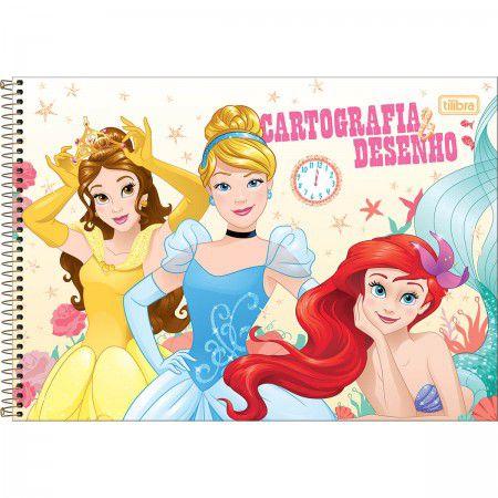 Caderno Cartografia C/D 80 Folhas Princesas Tilibra