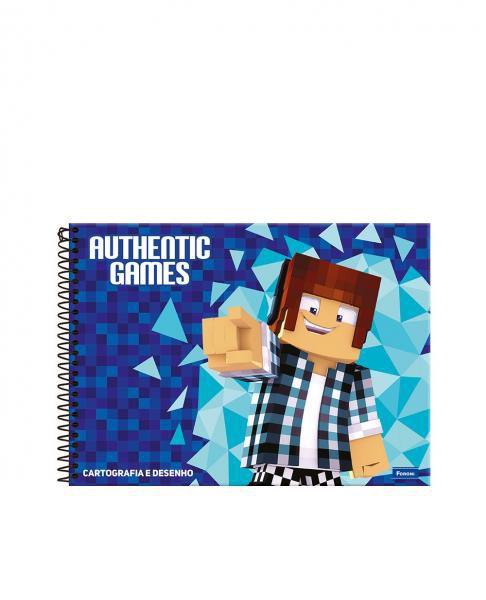 Caderno Cartografia C/D 96 Folhas Authentic Games Foroni