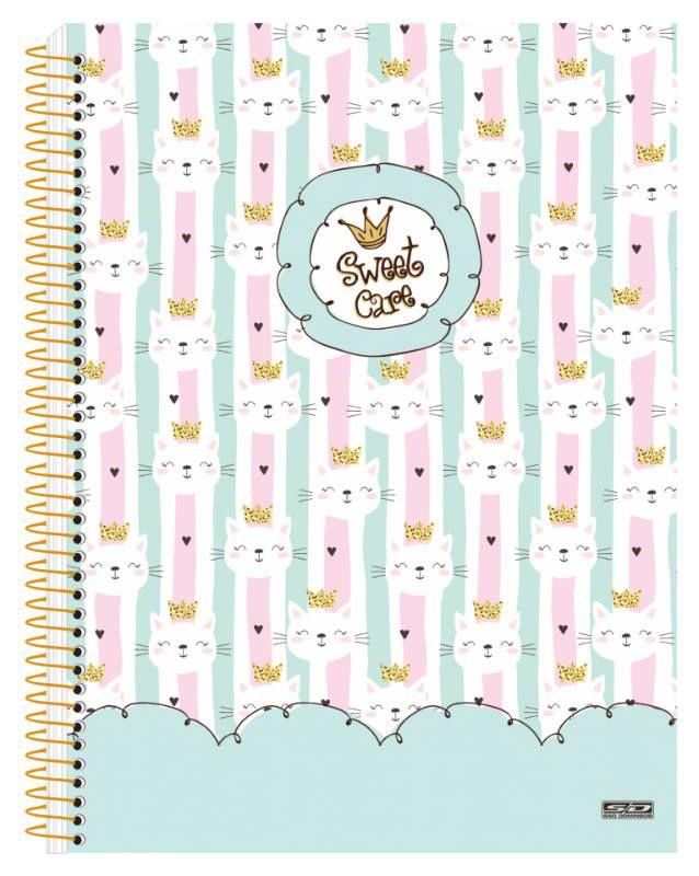 Caderno Colegial C/D 10 Materias Sweet Care Sao Domingos
