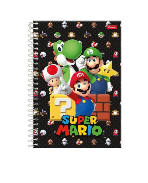 Caderno Espiral 1/4 C/D 80 Folhas Super Mario Bros Foroni
