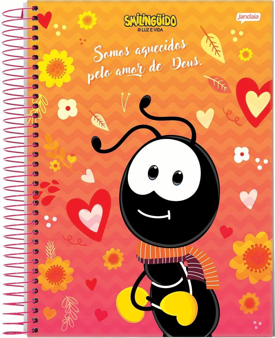 Caderno Espiral 1/4 C/D 96 Folhas Smilinguido Jandaia