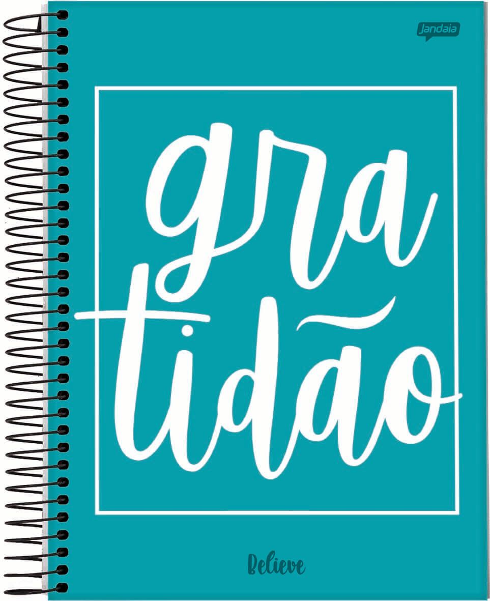 Caderno Espiral Universitario 10 Materias 200 Folhas Believe Jandaia