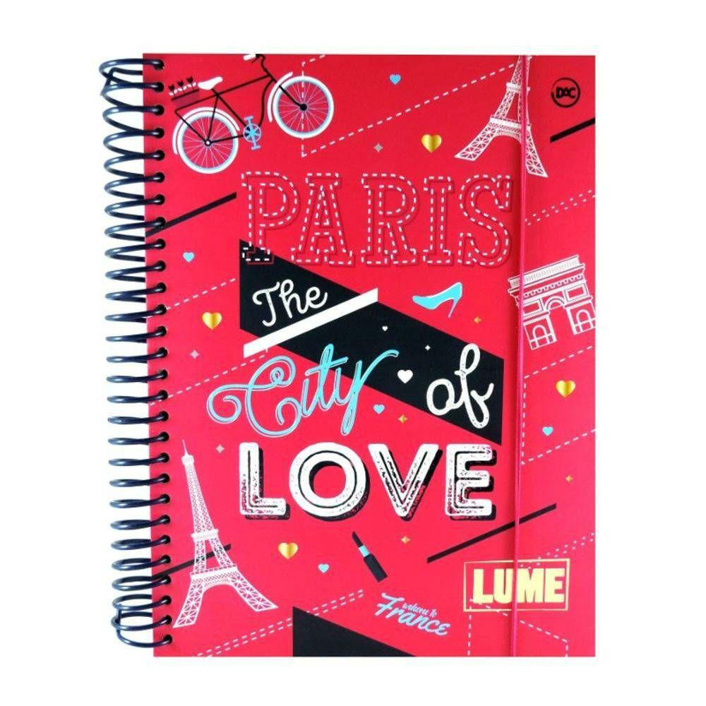 Caderno Universitário 10x1 Capa Dura Lume Rosa 200 Fls Dac