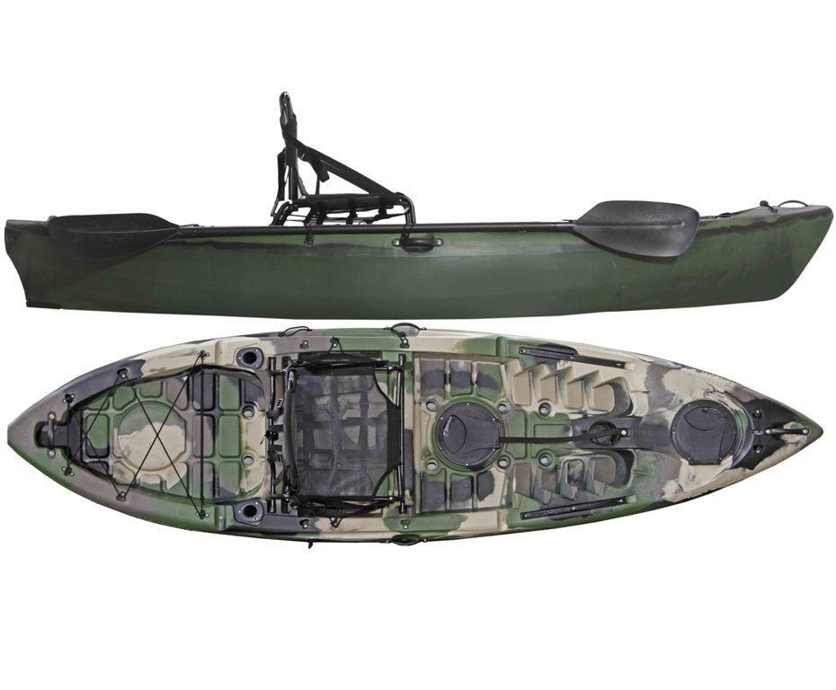 Caiaque Caiman 100 Hidro2 Eko Pesca E Recreação  Camuflado Verde