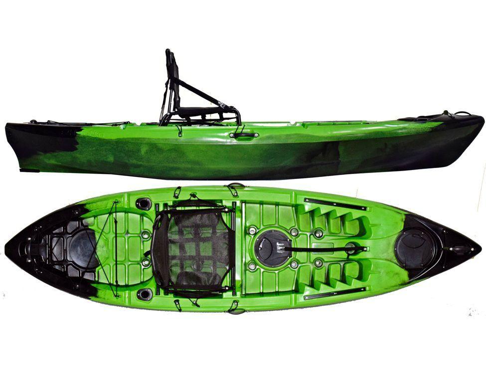 Caiaque Caiman 100 Hidro2 Eko Pesca E Recreação  Verde E Preto