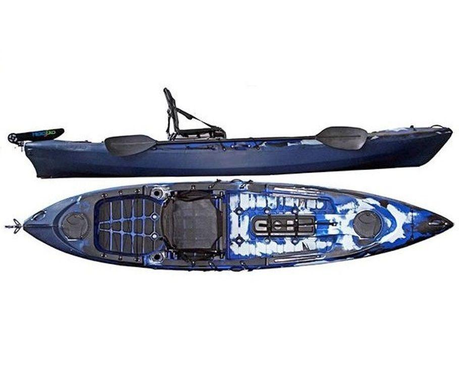 Caiaque Caiman 125 Hidro2 Eko Pesca E Recreação  Com Leme Azul E Preto