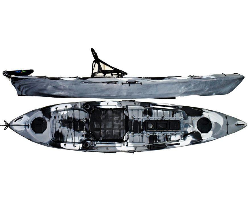 Caiaque Caiman 125 Hidro2 Eko Pesca E Recreação  Com Leme Camuflado Cinza