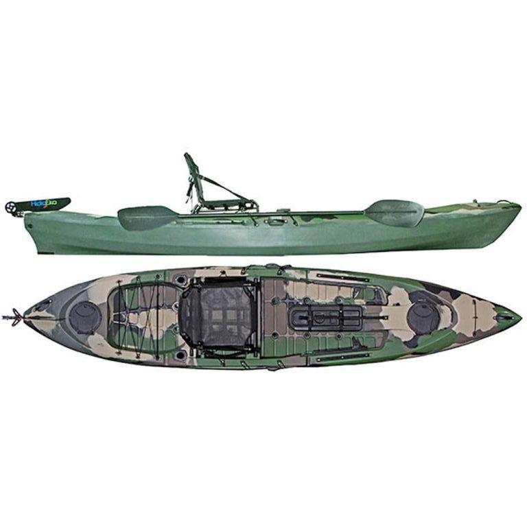 Caiaque Caiman 125 Hidro2 Eko Pesca E Recreação  Com Leme Camuflado Verde