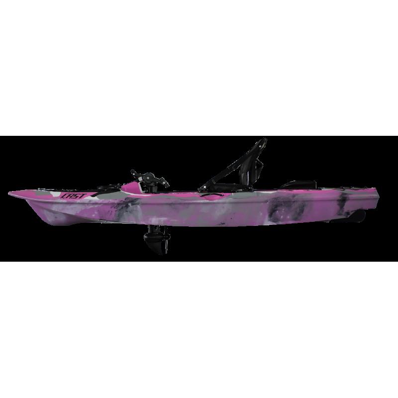 Caiaque Cast Com Pedal Milha Náutica Rosa Camuflado