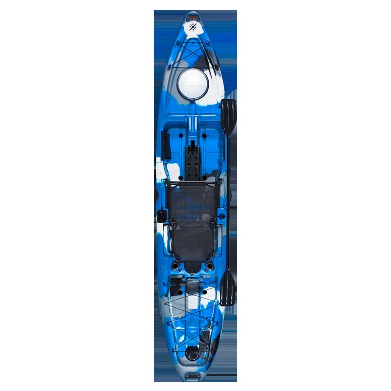 Caiaque Hook Com Pedal Milha Náutica Azul Camuflado