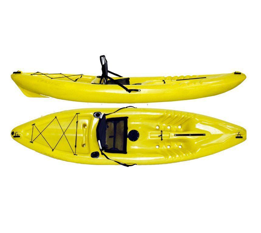 Caiaque Pescador Hidro2 Eko Para Pesca Amarelo