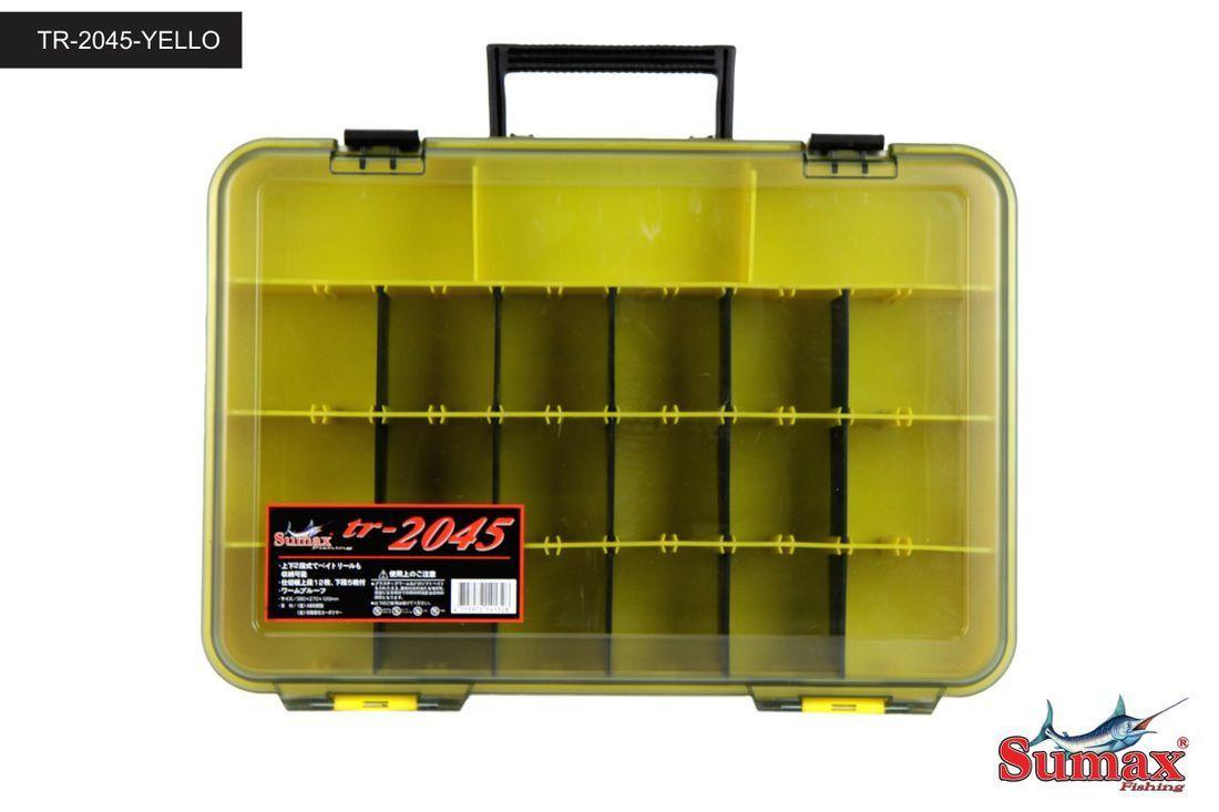 Caixa De Pesca Divisorias Adaptaveis Resistente Tr-2045 Amarela Sumax