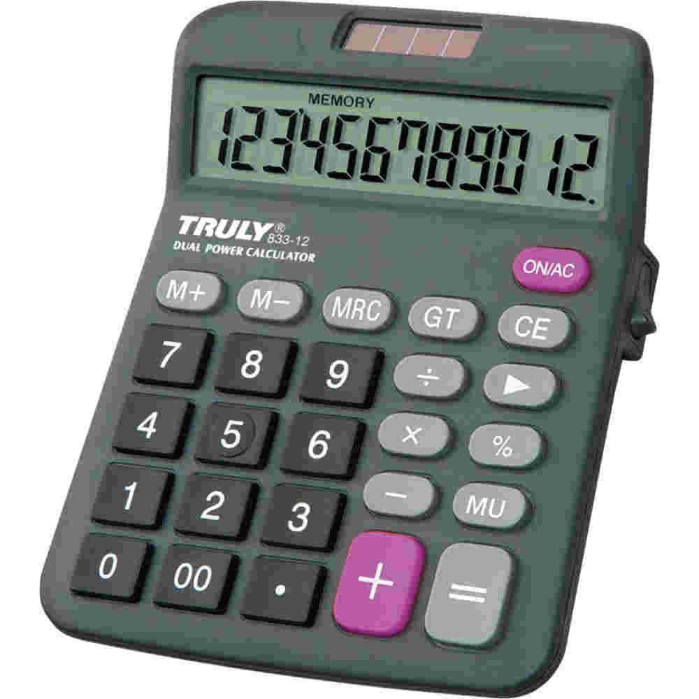 Calculadora De Mesa 12 Digitos 833 Trully