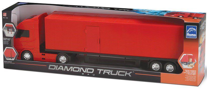 Caminhao Bau Roda Livre Diamond Truck Cor Sortida Roma