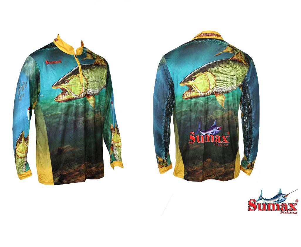 Camisa Camiseta Pesca Fibra De Menta Dourado Sumax Tamanho S