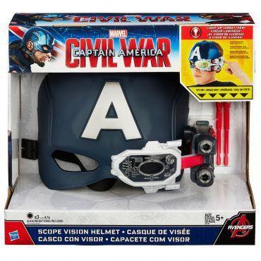 Capacete Com Visor Capitao America Guerra Civil Hasbro