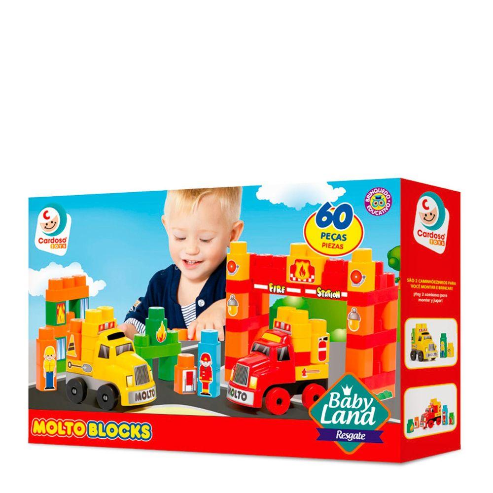 Carrinho Baby Land Resgate 60 Peças Cardoso Toys