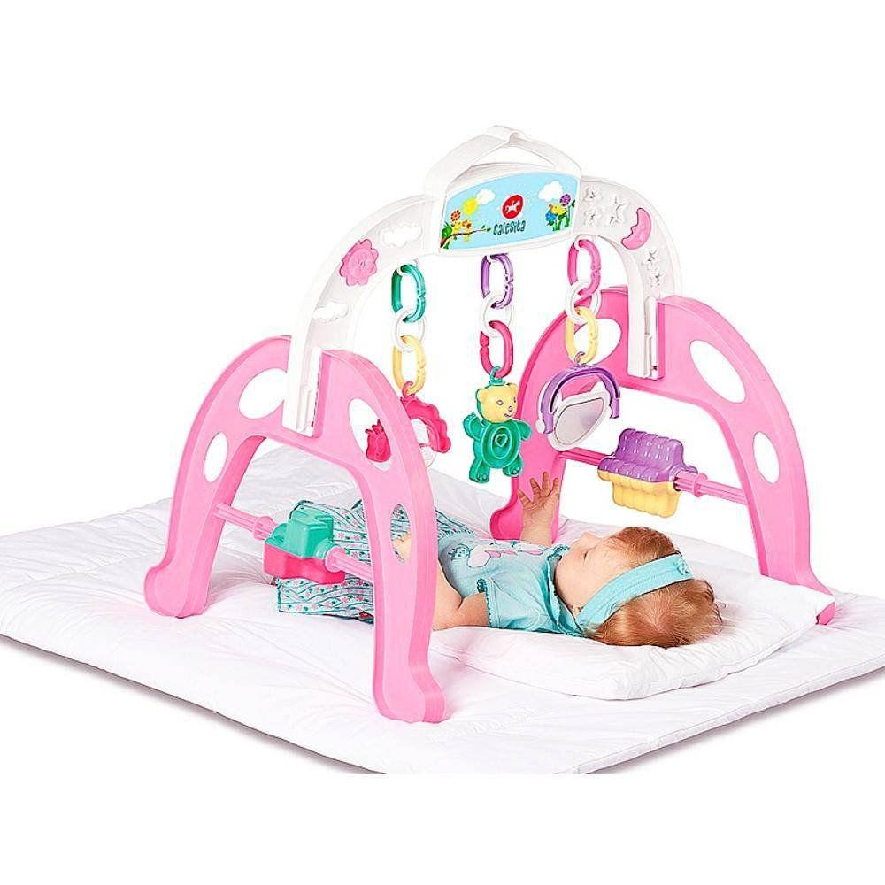 Centro De Atividades Infantil Mobile Móvel Baby Gym Calesita Menina Rosa