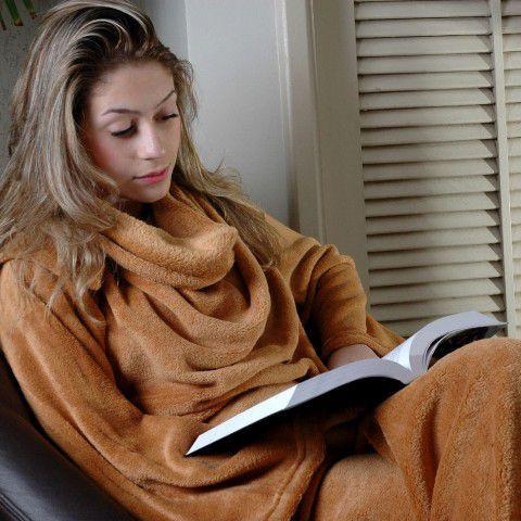 Cobertor Com Mangas Tamanho Único Caramelo Zona Criativa