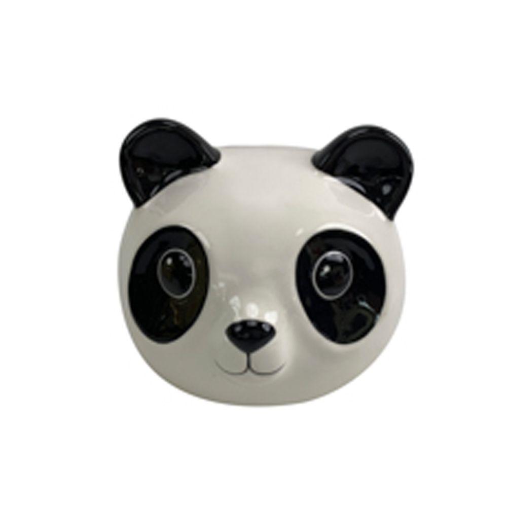 Cofre Ceramica Chill Panda 13X12,5X11,6cm Branco e Preto Urban