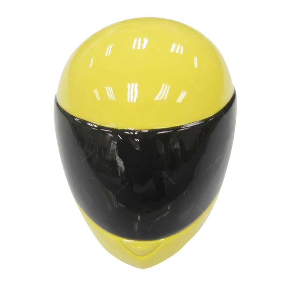 Cofre Ceramica Helmet Branco Amarelo e Preto Urban