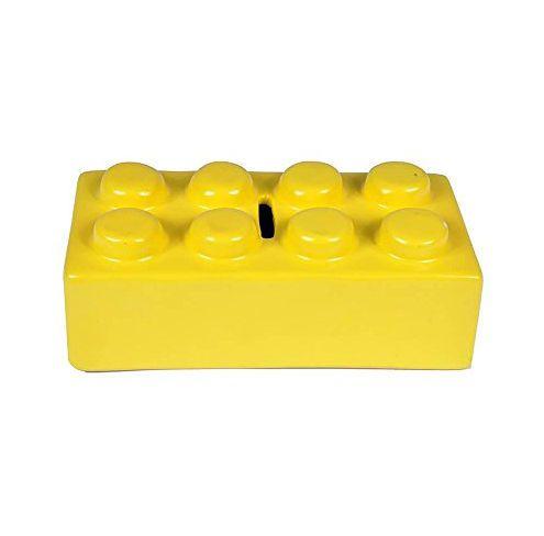 Cofre Ceramica Puzzle Amarelo Urban