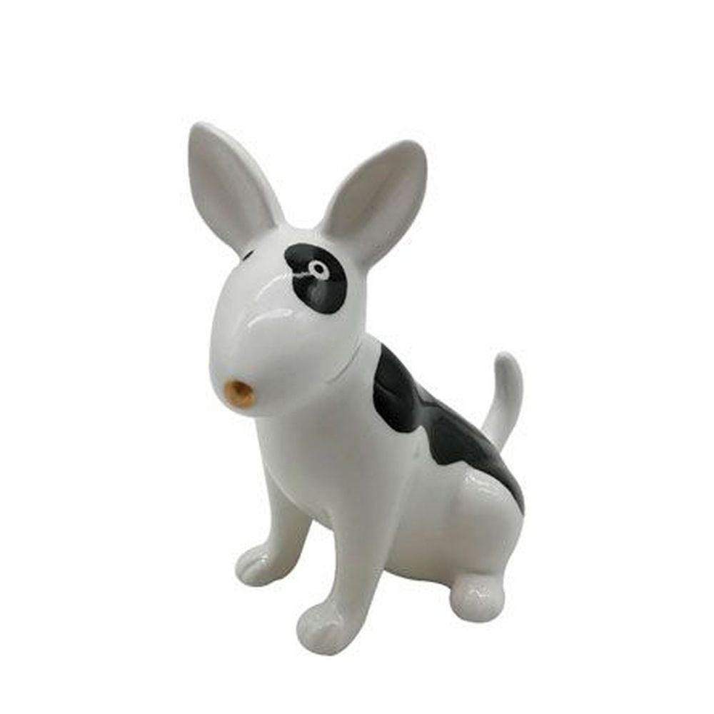 Decoraçao Porcelana Cute Standing Dog Branco 6,7X11,3X11,6cm Urban