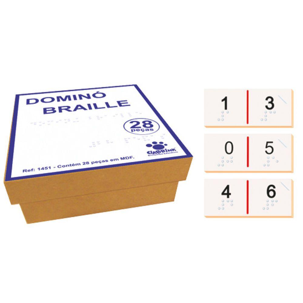 Domino De Formas Alto Relevo Braille Cia Brink