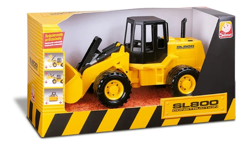 Escavadeira De Brinquedo Vulcan Sl800 Silmar