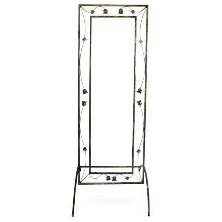 Espelho De Chão 1,68x60 Cm Sofisticado Em Aço Decorlidi