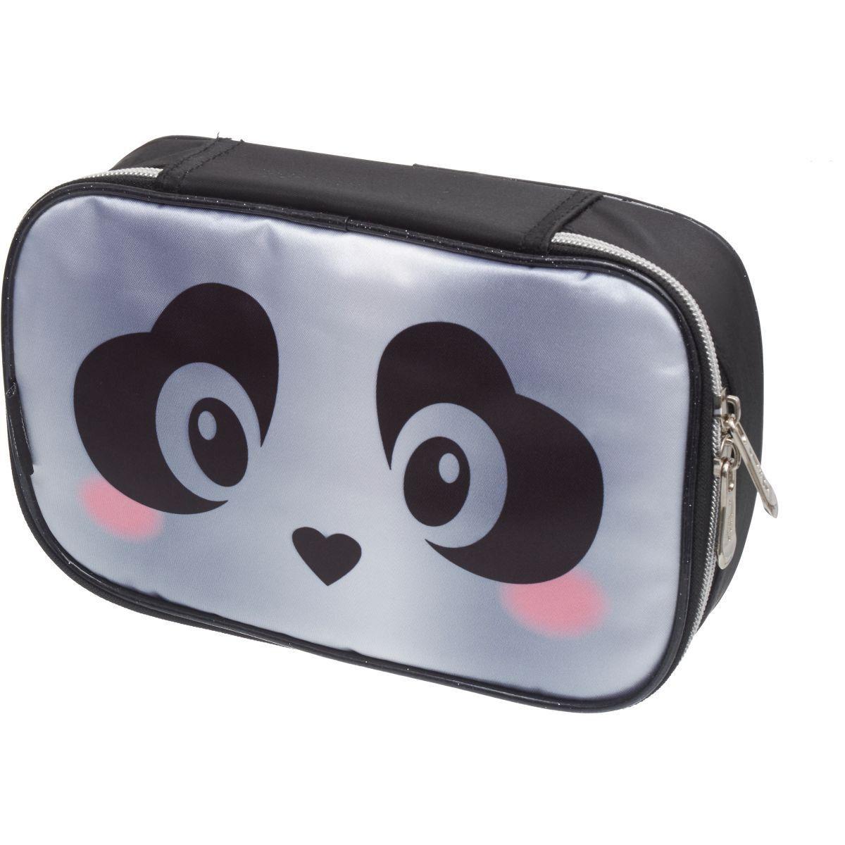 Estojo 1 Divisoria Pack Me Panda Preto Pacific