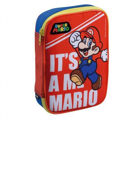 Estojo 1 Divisoria Para 100 Lapis Super Mario Bros It's Me Foroni