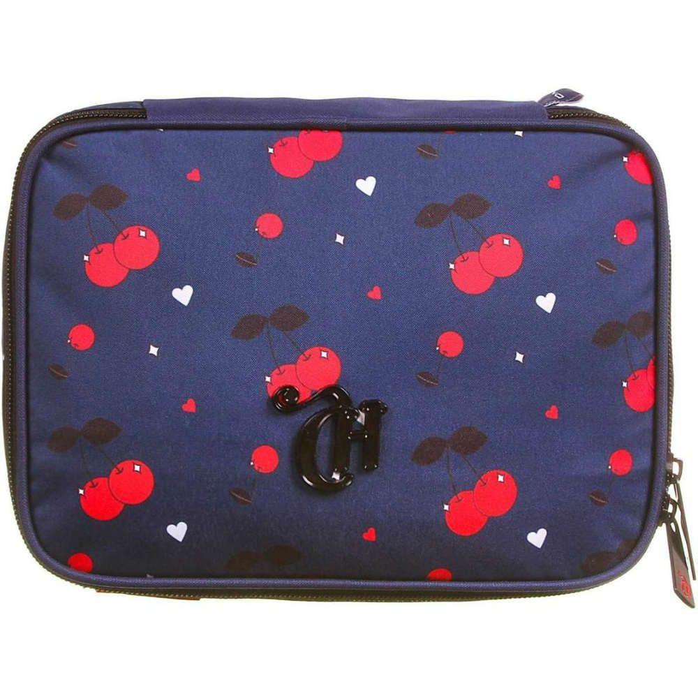 Estojo 1 Divisoria Soft Luxo Capricho Cherries Azul Dmw