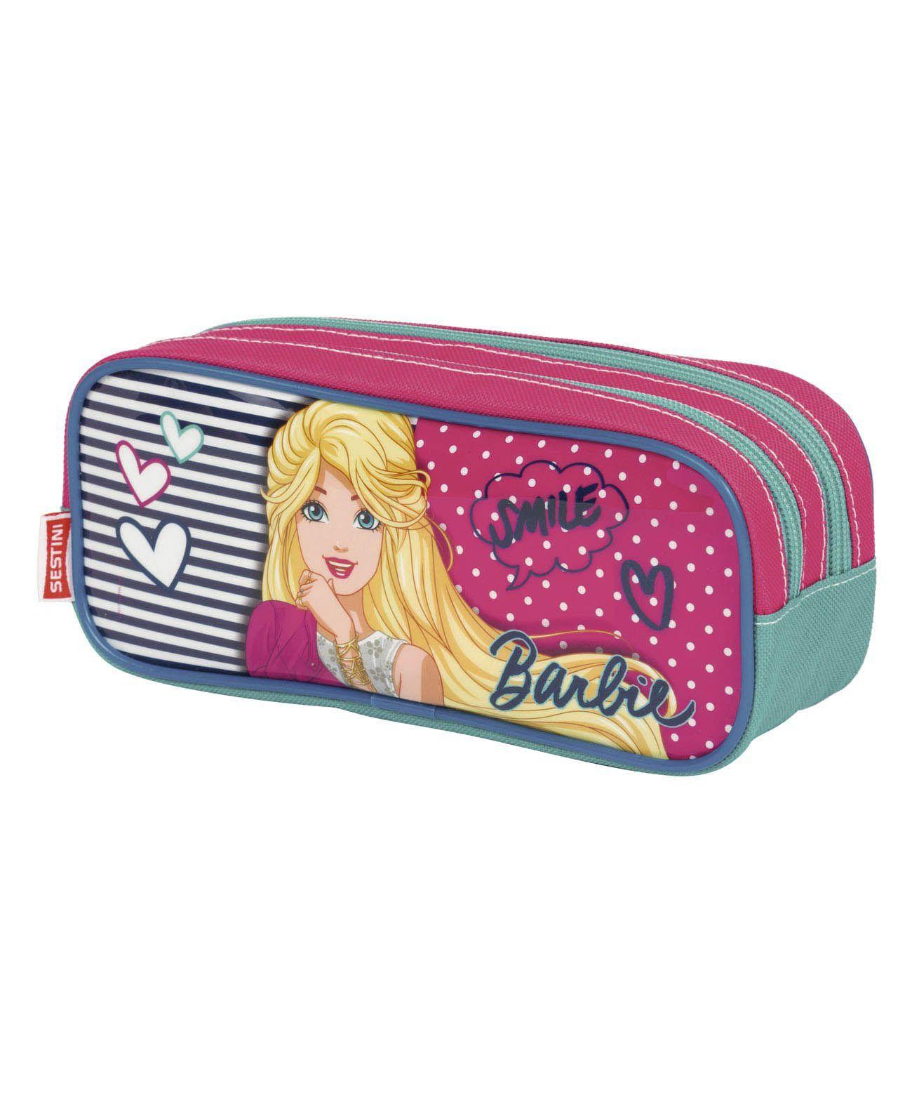 Estojo 2 Compartimentos Barbie 18m Plus Sestini