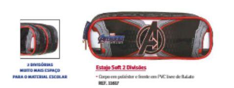 Estojo 2 Divisorias Soft Avengers 11617 Dmw