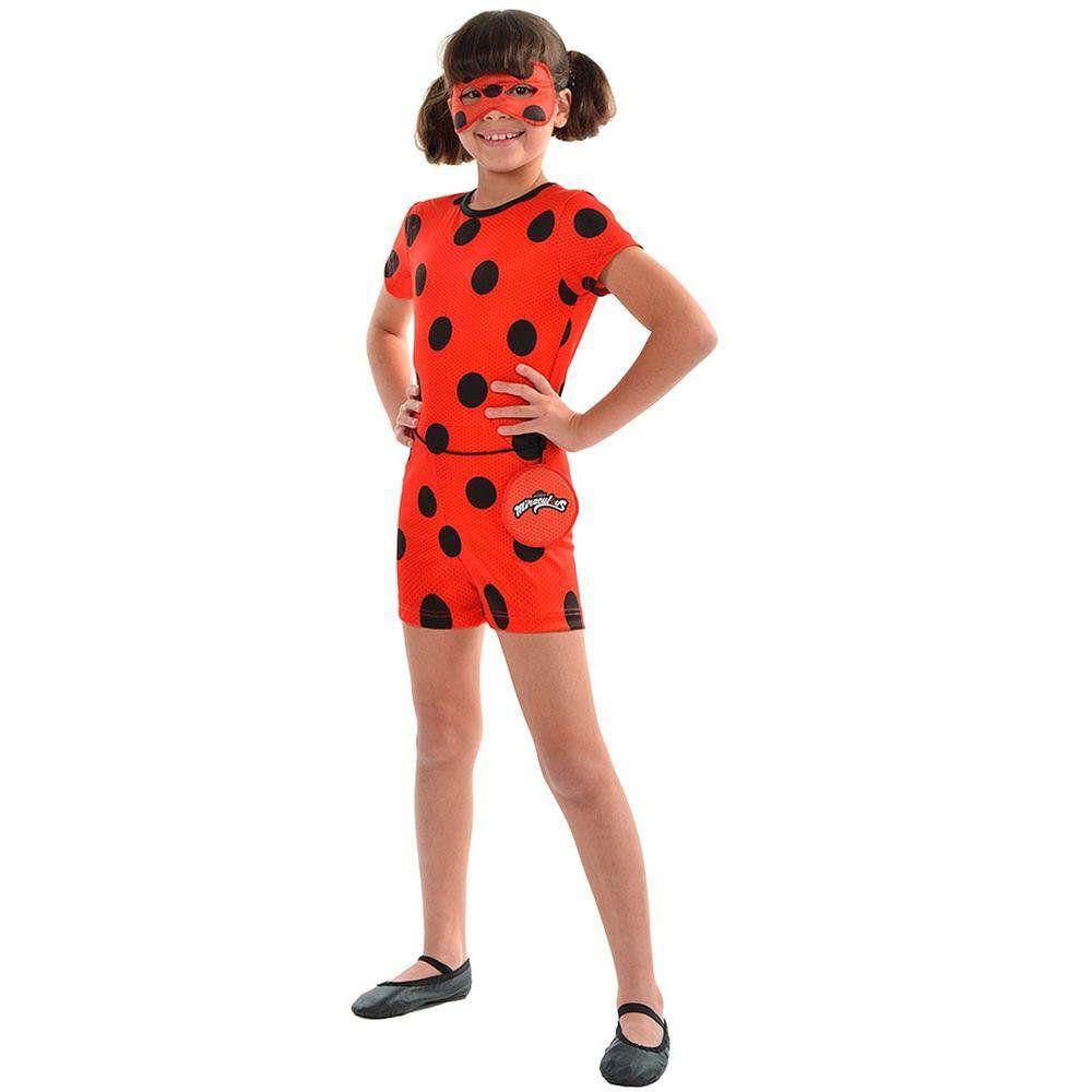 Fantasia Ladybug Infantil Curta Original M Miraculous