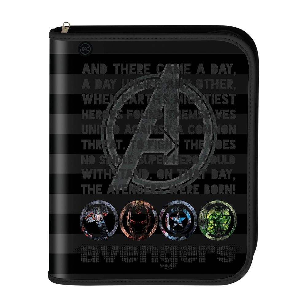 Fichario Universitario Marvel 48 Folhas Avengers Dac