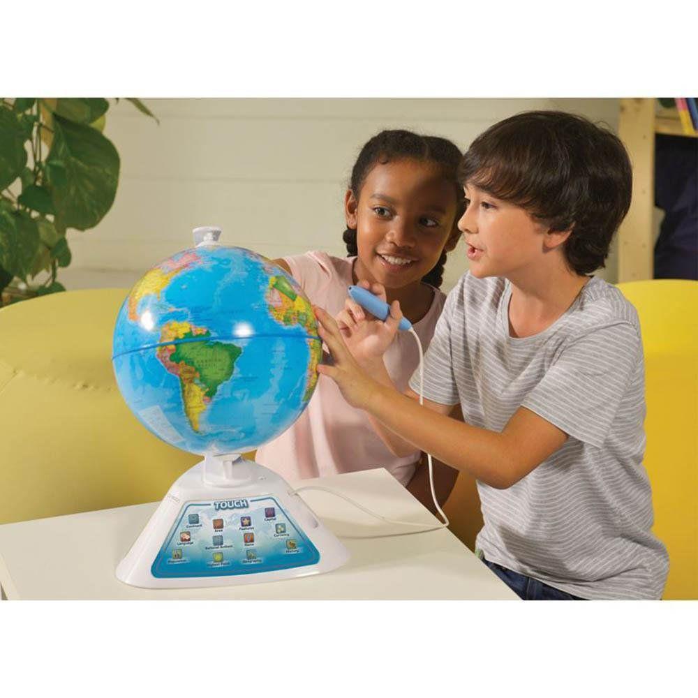 Globo Interativo Educativo Smart Globe Discovery Com Caneta